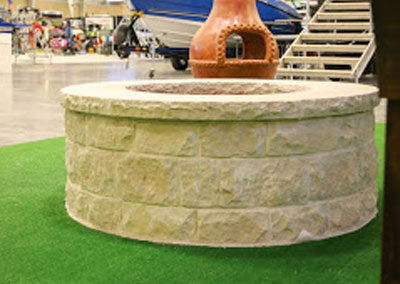 Firepit OKC Perfect Firepit Made Of light Colored Stones