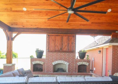 Outdoor Fireplace OKC 108
