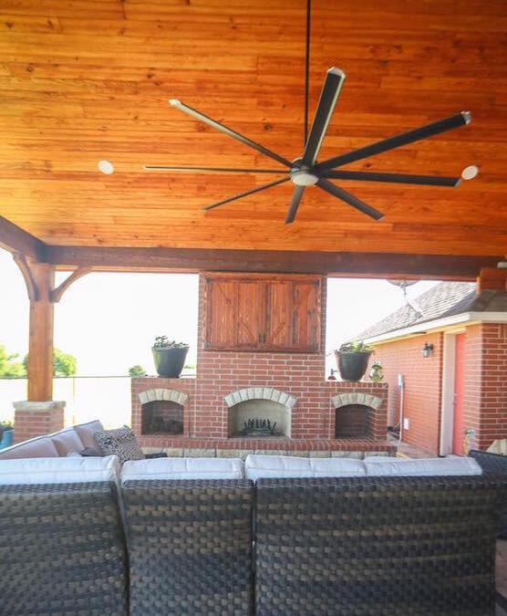 Outdoor Fireplace OKC 108