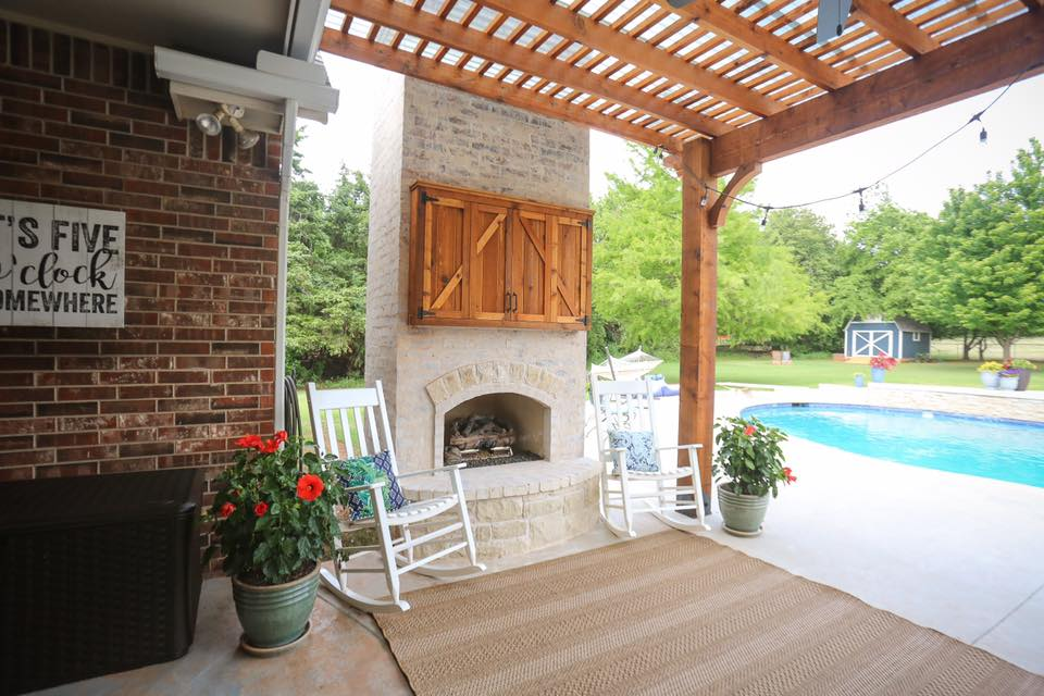 Outdoor Fireplace OKC 110