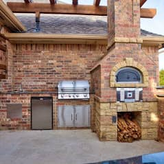 Outdoor Fireplace OKC 122