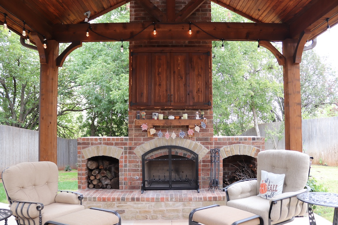 Outdoor Fireplace OKC 124