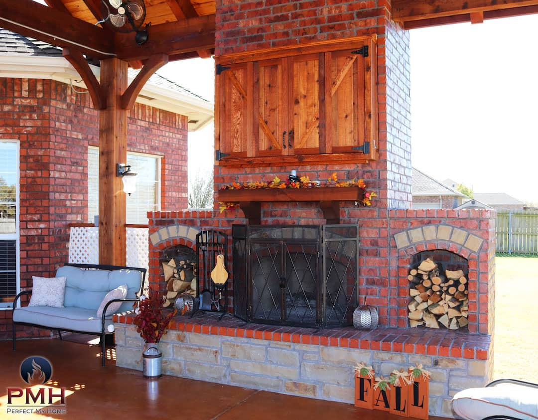 Outdoor Fireplace OKC 126