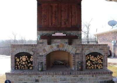 Outdoor Fireplace OKC 129