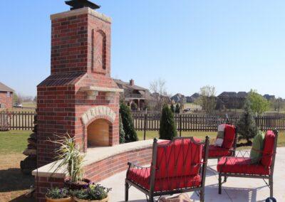 Outdoor Fireplace OKC 160