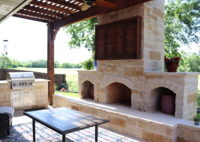 Outdoor Fireplace OKC 162