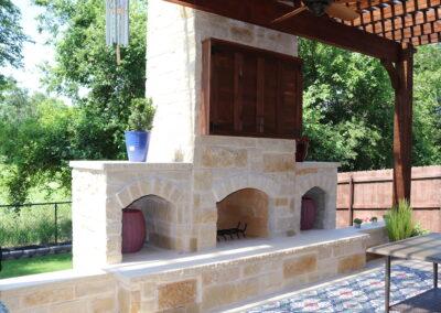 Outdoor Fireplace OKC 163