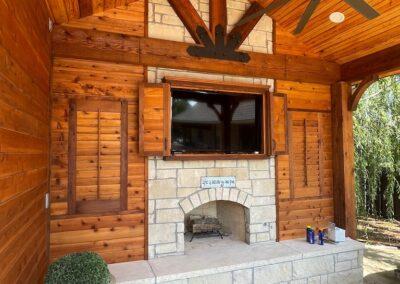 Outdoor Fireplace OKC 165