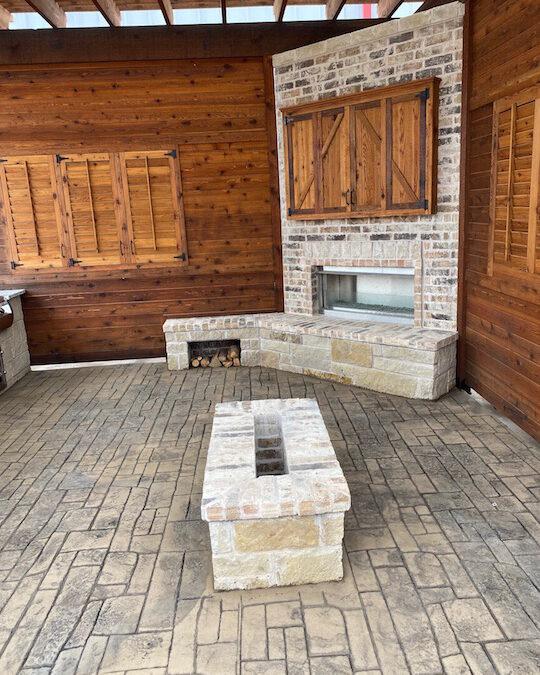 Outdoor Fireplace OKC Great Area Hangout