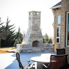 Outdoor Fireplace OKC Large Hearth