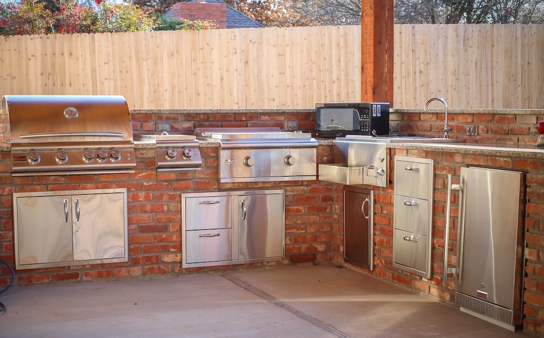 Outdoor Kitchen OKC Spacious Outdoor Area