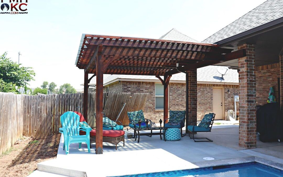 Pergola OKC A Nice Place To Relax By The Pool