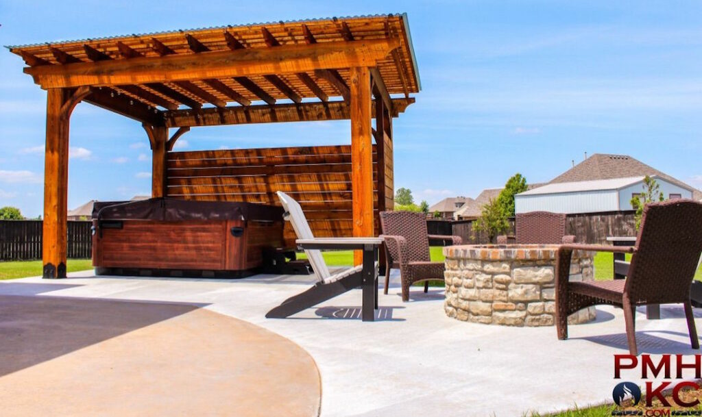 Pergola OKC Pergola And Firepit Brand New