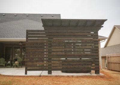 Privacy Wall OKC Backyard Area