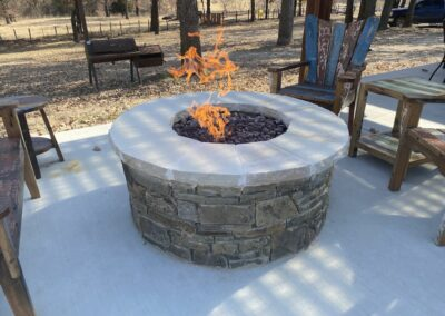 Outdoor Kitchens OKC Great Firepit Made Of Brick